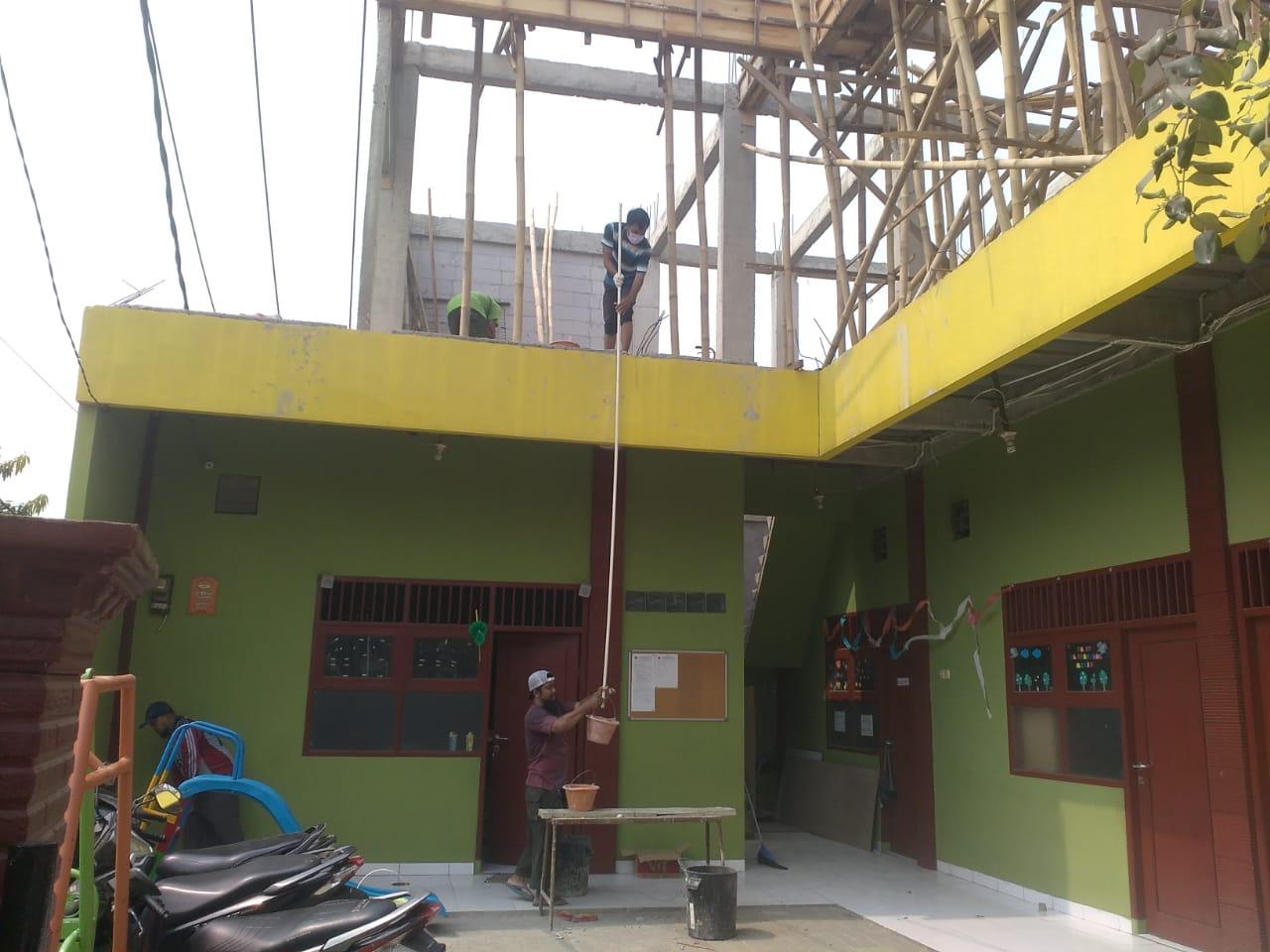 Pembangunan lantai 2